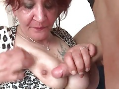 Young dick gets hard in mature mouth tubes