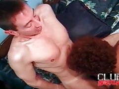 Busty slut laid by a couple of hard body guys tubes