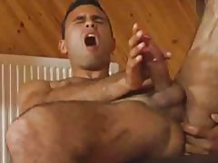 Hairy dude strokes his cock and gets it nice and hard tubes