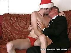 Father son christmas tubes