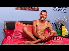 Skinny black twink talks and masturbates tubes