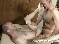 Daddy fucks his masseur tubes