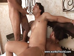 He rides cock bareback and sucks another tubes