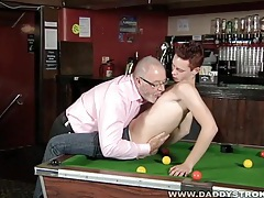 Daddy and lad blow each other tubes