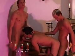 Spit roasted gay bottom in bareback video tubes