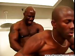 Muscular pierced black man power fucks that ass tubes