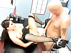 Pigtailes brunette fucked hard by her prof tubes