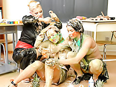 Messy girls at play tubes