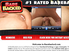 Threesome bareback with creampies tubes