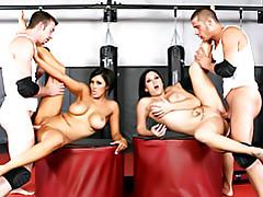 A sporty foursome tubes