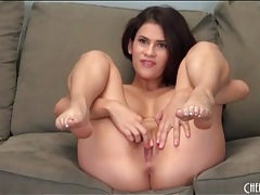 Sexy latina has big round fake breasts tubes