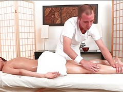 Erotic oil massage and finger fucking of riley reid tubes