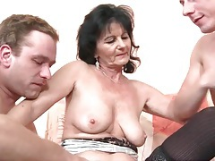 Young men in foreplay porn with mature slut tubes
