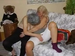 Granny and mature get topless and play with tits tubes