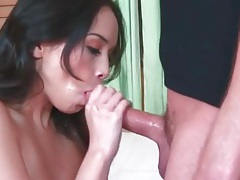 Asian deepthroats a dick and gets fucked tubes
