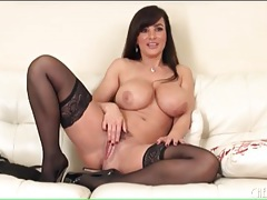 Lisa ann strips off panties to toy fuck pussy tubes