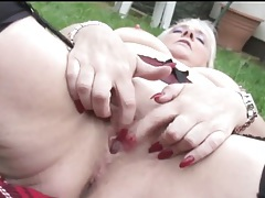 Mature model carol fingers old pussy outdoors tubes