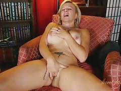Beautiful big tits on a masturbating blonde mature tubes