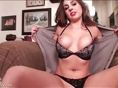 Girl with gorgeous fake tits masturbates tubes