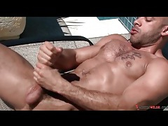 Gorgeous austin wilde jerks off outdoors tubes