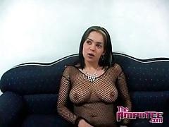 Sexy girl in lingerie for her black lover tubes