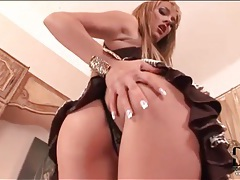 Blue angel anal fingering in panties tubes
