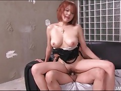 Busty japanese slut sara fucked from behind tubes