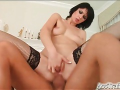 Young shaved slut fucked in the ass hard tubes
