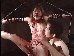 Pain is extreme in japanese bdsm video tubes