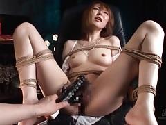 Hairy pussy of bound japanese girl fucked tubes