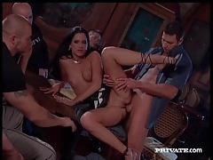 Hot euro girls get fucked in a crowded bar tubes