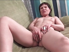Skinny mature cleans house in her panties tubes