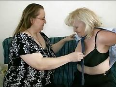 Fat old sluts in lusty lesbian video tubes