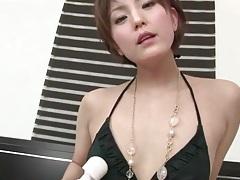 Naughty japanese girl with vibrator masturbates tubes