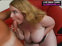 Big titty fat blonde gives a sexy blowjob tubes