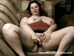Amateur bbw striptease with sensual touching tubes