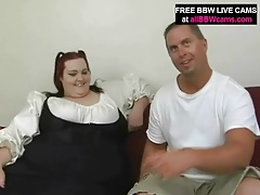 Sweet smiling bbw redhead sucks a dick tubes