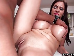 Wet housewife pussy fucked by bbc tubes