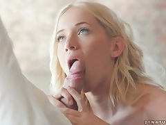 Naked kiara lord kisses and blows her man tubes