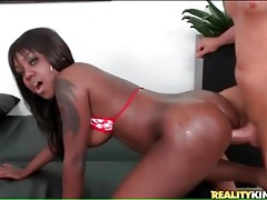 Curvy black girl sucks and fucks white dick tubes