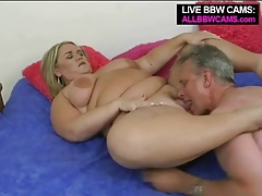 Old dude goes down on mature bbw blonde tubes