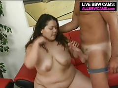 Big dick gets good head from fat slut tubes