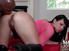 Slutty white girl gets a hot interracial rimjob tubes