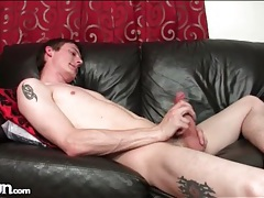 Thick cock and tight balls on solo guy tubes