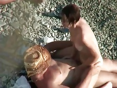 Voyeur porn of girl riding cock on the beach tubes