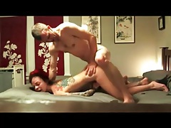 Tattooed couple has hot homemade hardcore sex tubes