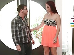 Milf redhead masseuse gives him a bj tubes