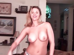 Solo blonde milf does a sexy striptease tubes
