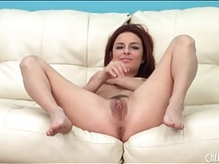Redhead and a vibrator have solo sex tubes