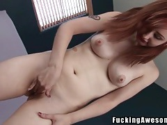 Redhead violet monroe fucked by a big dildo tubes
